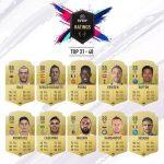 ۱۰۰ بازیکن برتر بازی FIFA 19 [سری دوم: ۶۰-۳۱]