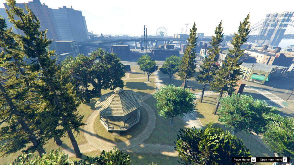پارک شهر Liberty City برای GTA V